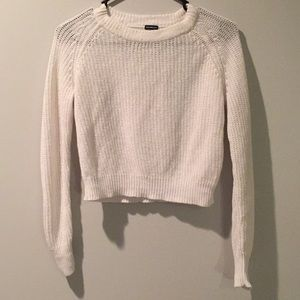 Brandy and Melville Light white sweater.